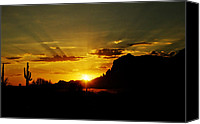 The Superstitions Canvas Prints - A Southwest Sunrise  Canvas Print by Saija  Lehtonen