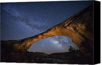 National Monument Canvas Prints - A Starry Night Gleams Above Owachomo Canvas Print by Jim Richardson