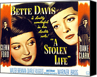 Fod Canvas Prints - A Stolen Life, Glenn Ford, Bette Davis Canvas Print by Everett