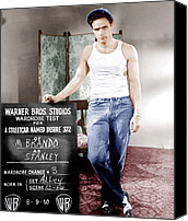 Films By Elia Kazan Canvas Prints - A Streetcar Named Desire, Marlon Brando Canvas Print by Everett