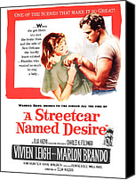 1950s Poster Art Canvas Prints - A Streetcar Named Desire, Vivien Leigh Canvas Print by Everett