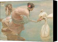 Ancient Greece Painting Canvas Prints - A summer morning Canvas Print by Rupert Charles Wolston Bunny