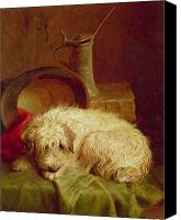 Pose Canvas Prints - A Terrier Canvas Print by John Fitz Marshall