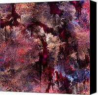 Fantasy Canvas Prints - A Tortured Heart Canvas Print by Rachel Christine Nowicki