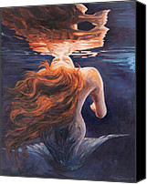 Underwater Canvas Prints - A trick of the light - love is illusion Canvas Print by Marco Busoni