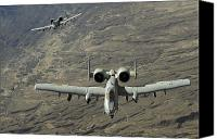 Afghanistan Canvas Prints - A Two-ship A-10 Thunderbolt Ii Canvas Print by Stocktrek Images