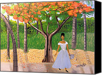 Nicole Jean-louis Canvas Prints - A une Dame Creole Canvas Print by Nicole Jean-Louis