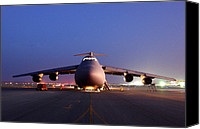 Afghanistan Canvas Prints - A U.s. Air Force C-5 Galaxy Aircraft Canvas Print by Everett