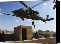 Operation Iraqi Freedom Canvas Prints - A U.s. Air Force Pararescuemen Fast Canvas Print by Stocktrek Images