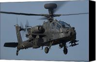 Apache Canvas Prints - A U.s. Army Ah-64 Apache Helicopter Canvas Print by Stocktrek Images