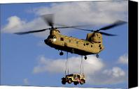 American Flags Canvas Prints - A U.s. Army Ch-47 Chinook Helicopter Canvas Print by Stocktrek Images