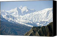 No Face Canvas Prints - A View Of Annapurna I From The North Canvas Print by Stephen Sharnoff