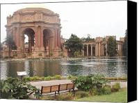 Flower Works Canvas Prints - A view of Palace of Fine Arts theatre San Francisco No one Canvas Print by Hiroko Sakai