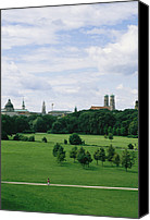 Frauenkirche Canvas Prints - A view of the English Canvas Print by Taylor S. Kennedy