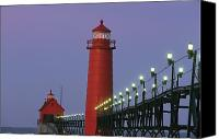 Etc. Canvas Prints - A View Of The Grand Haven Lighthouse Canvas Print by Ira Block