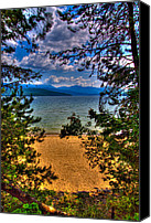 Priest Canvas Prints - A View of the Lake Canvas Print by David Patterson