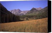 Lanscape Canvas Prints - A View Of The Maroon Bells Mountains Canvas Print by Taylor S. Kennedy
