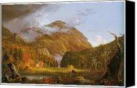 Cole Canvas Prints - A View of the Mountain Pass Called the Notch of the White Mountains Canvas Print by Thomas Cole