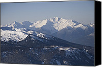 Snow Scenes Photo Canvas Prints - A View Of The Mountains Canvas Print by Taylor S. Kennedy
