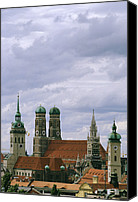 Frauenkirche Canvas Prints - A view of the skyline of Canvas Print by Taylor S. Kennedy