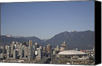 Celebrations Canvas Prints - A View Of The Skyline Of Vancouver, Bc Canvas Print by Taylor S. Kennedy