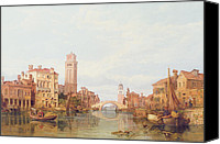 Verona Canvas Prints - A View of Verona Canvas Print by George Clarkson Stanfield