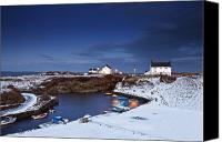 Docks Photo Canvas Prints - A Village On The Coast Seaton Sluice Canvas Print by John Short