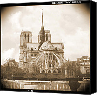 Notre Dame Canvas Prints - A Walk Through Paris 25 Canvas Print by Mike McGlothlen