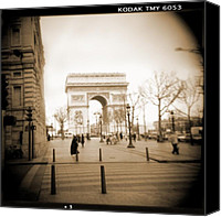 Camera Canvas Prints - A Walk Through Paris 3 Canvas Print by Mike McGlothlen