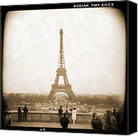 Camera Canvas Prints - A Walk Through Paris 5 Canvas Print by Mike McGlothlen
