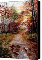 Landscape Pastels Canvas Prints - A Walk To Remember Canvas Print by Mary Giacomini