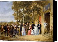 Onlookers Canvas Prints - A Wedding at the Coeur Volant Canvas Print by French School