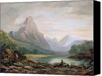 1842 Canvas Prints - A Welsh Valley Canvas Print by John Varley