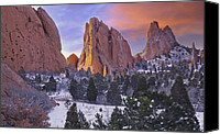 Winter Landscapes Canvas Prints - A Winter Morning Canvas Print by Tim Reaves