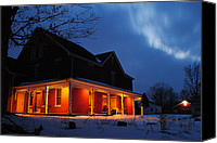 Marvelous Canvas Prints - A Winters Eve Canvas Print by Robert Harmon