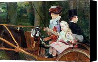 Cart Driving Canvas Prints - A woman and child in the driving seat Canvas Print by Mary Stevenson Cassatt