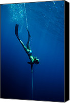 Success Photo Canvas Prints - A Woman Dives In The Ocean Canvas Print by Tim Davis