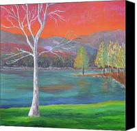 Mountain Scenes Canvas Prints - A World of Color Canvas Print by Reb Frost