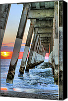 Topsail Canvas Prints - A Wrightsville Beach Morning Canvas Print by JC Findley
