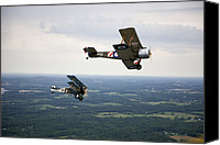 Bi Planes Canvas Prints - A Wwi Sopwith 1-12 Strutter Biplane Canvas Print by Pete Ryan