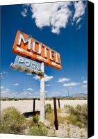 66 Canvas Prints - Abandonded Motel Canvas Print by Peter Tellone