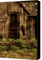 Dilapidated House Canvas Prints - Abandoned Canvas Print by Bonnie Bruno