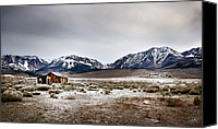 Old Cabins Canvas Prints - Abandoned Canvas Print by Endre Balogh