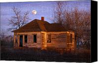 Haunted House Canvas Prints - Abandoned Farm House Canvas Print by Richard Wear