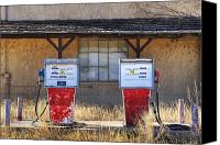 Not In Service Canvas Prints - Abandoned Gas Pumps and Station Canvas Print by Dave & Les Jacobs