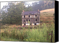 The Haunted House Canvas Prints - Abandoned house across the field Canvas Print by Ryan Demaree