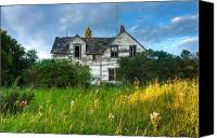 Ruin Canvas Prints - Abandoned House on the Prairies Canvas Print by Matt Dobson