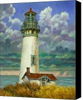 House Painting Canvas Prints - Abandoned Lighthouse Canvas Print by John Lautermilch