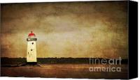 Beacon Canvas Prints - Abandoned Lighthouse Canvas Print by Meirion Matthias