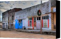 Arkansas Canvas Prints - Abandoned Main Street Canvas Print by Douglas Barnett